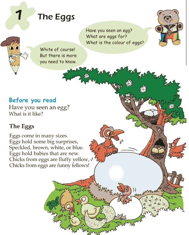 Grade 1 Reading Lesson 1 Poetry - The Eggs
