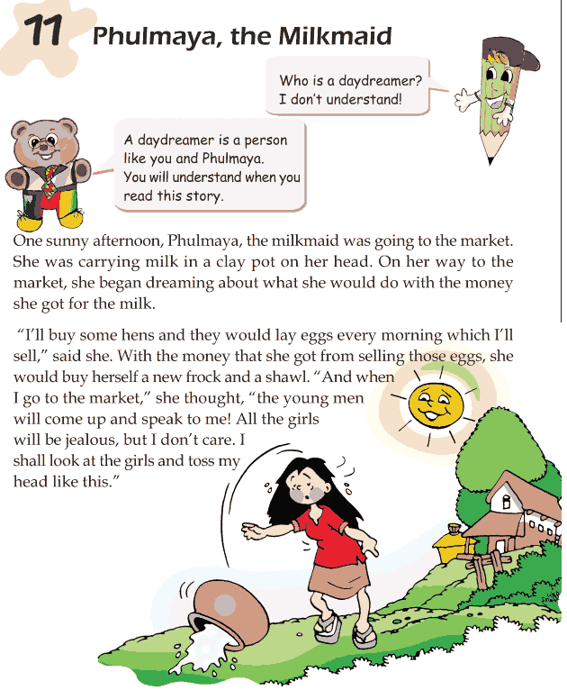 Grade 1 Reading Lesson 11 Fables And Folktales - Phulmaya, The Milkmaid