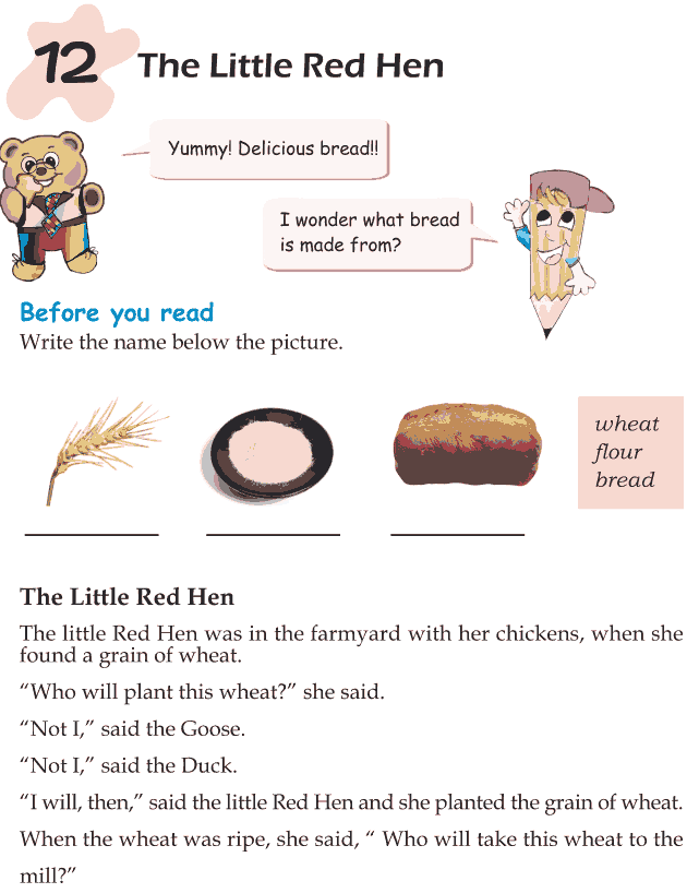 Grade 1 Reading Lesson 12 Fables And Folktales - The Little Red Hen