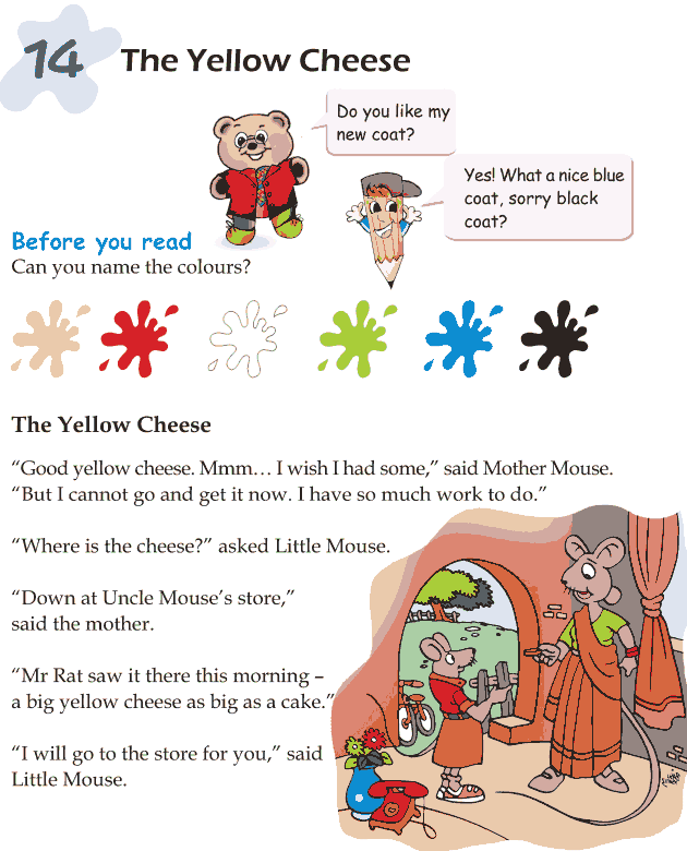 Grade 1 Reading Lesson 14 Short Stories - The Yellow Cheese
