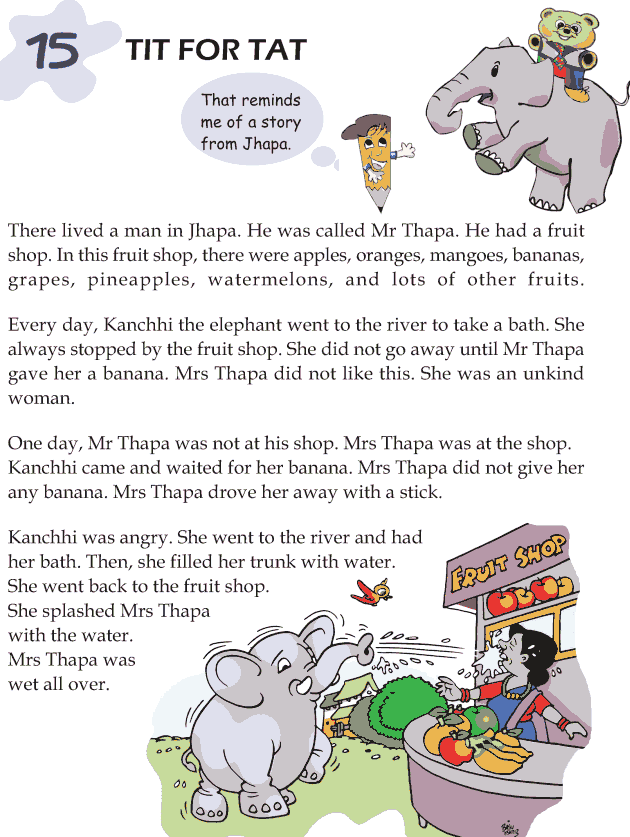Grade 1 Reading Lesson 15 Short Stories - Tit For Tat