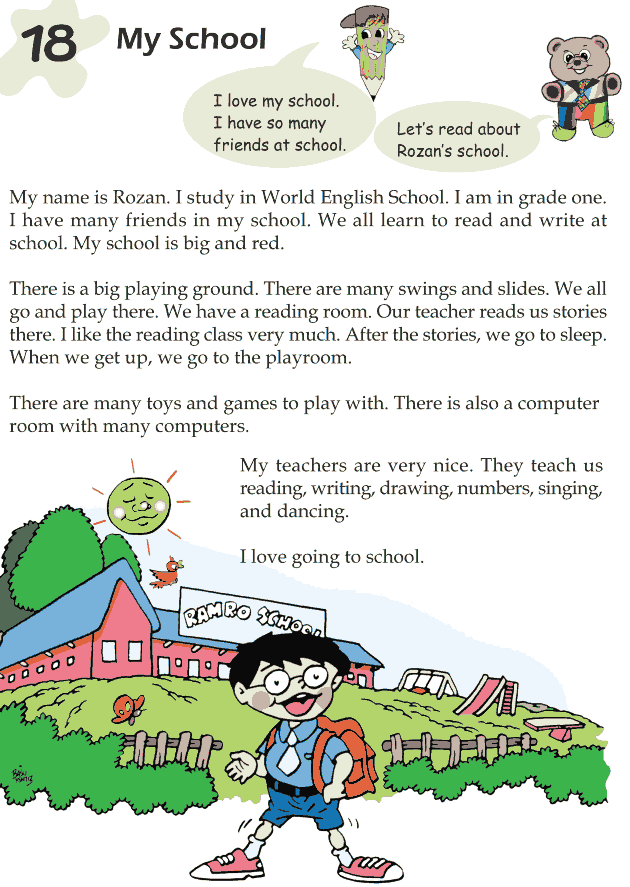 Grade 1 Reading Lesson 18 Nonfiction - My School