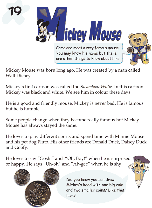Grade 1 Reading Lesson 19 Biography - Mickey Mouse