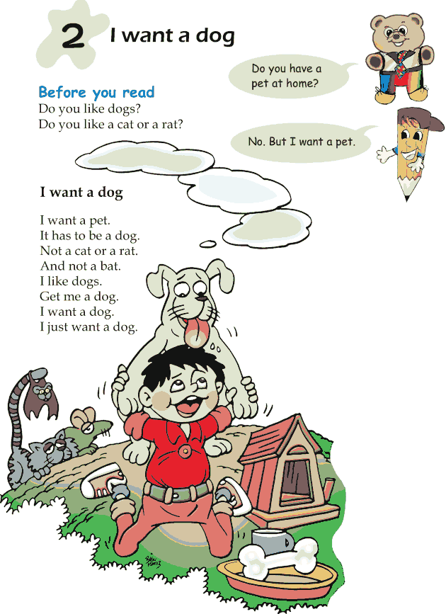 Grade 1 Reading Lesson 2 Poetry - I Want A Dog