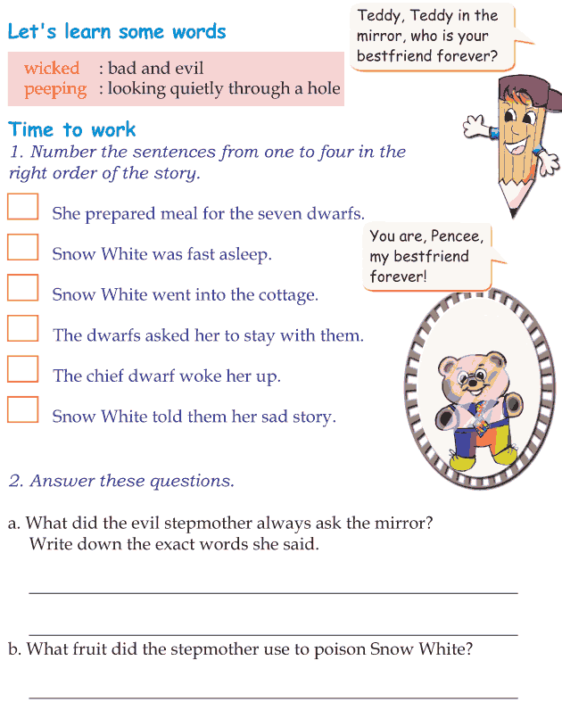 Grade 1 Reading Lesson 20 Fairy Tales - Snow White And The Seven Dwarfs (4)
