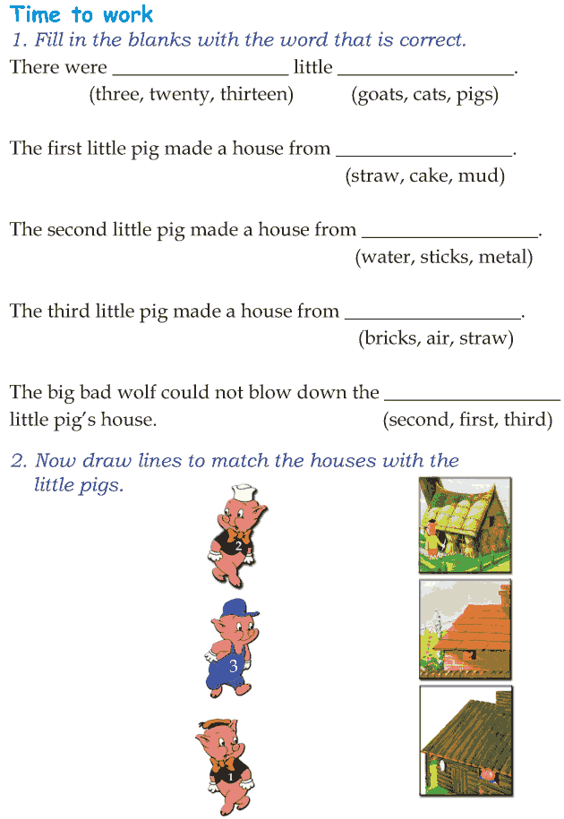 Grade 1 Reading Lesson 21 Fairy Tales - The Three Little Pigs (6)