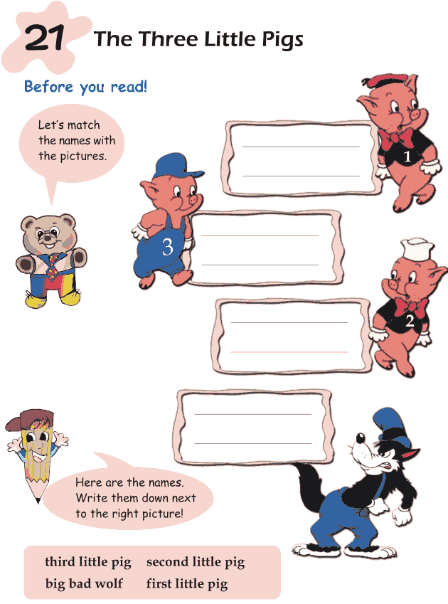 Grade 1 Reading Lesson 21 Fairy Tales - The Three Little Pigs