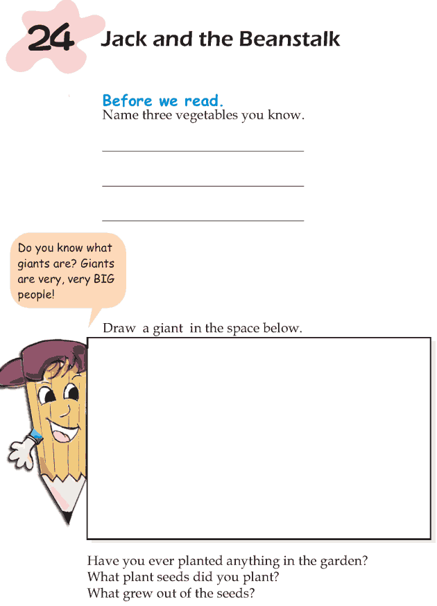 Grade 1 Reading Lesson 24 Fairy Tales - Jack And The Beanstalk