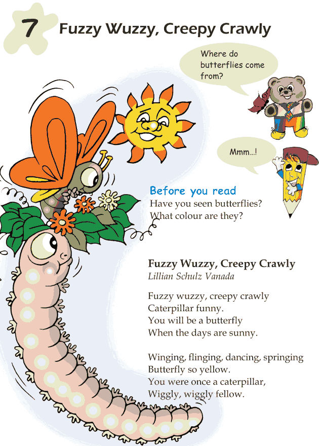 Grade 1 Reading Lesson 7 Poetry - Fuzzy Wuzzy Creepy Crawly