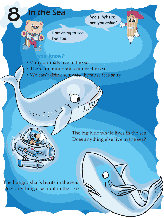 Grade 1 Reading Lesson 8 Picture Story - In The Sea