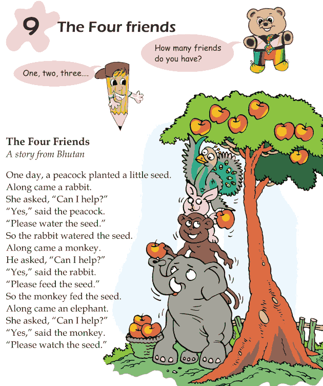 Grade 1 Reading Lesson 9 Fables And Folktales - The Four Friends
