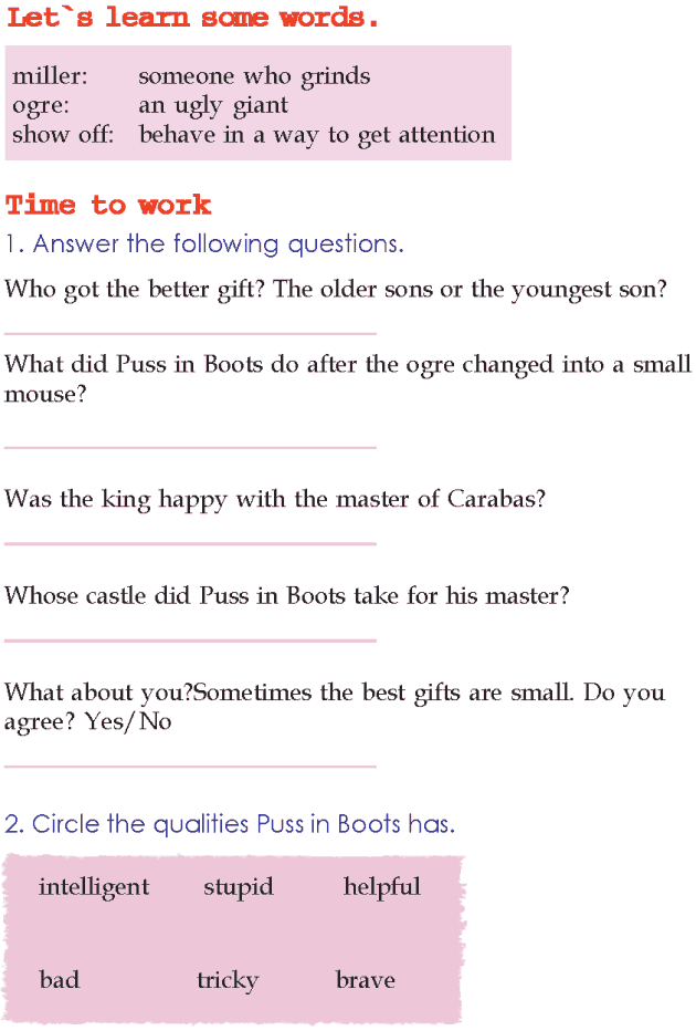 Grade 2 Reading Lesson 10 Fairy Tales - Puss In Boots (4)