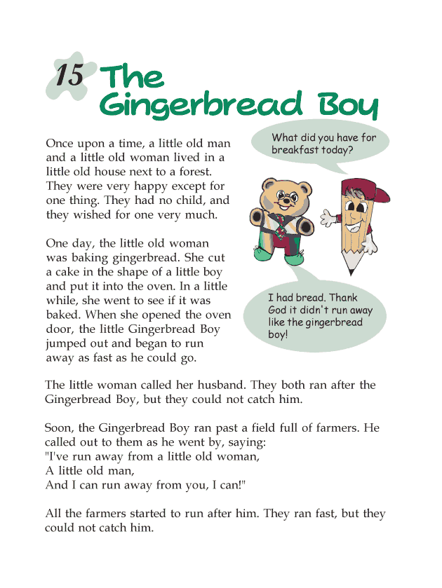 Grade 2 Reading Lesson 15 Fables And Folktales - The Gingerbread Boy