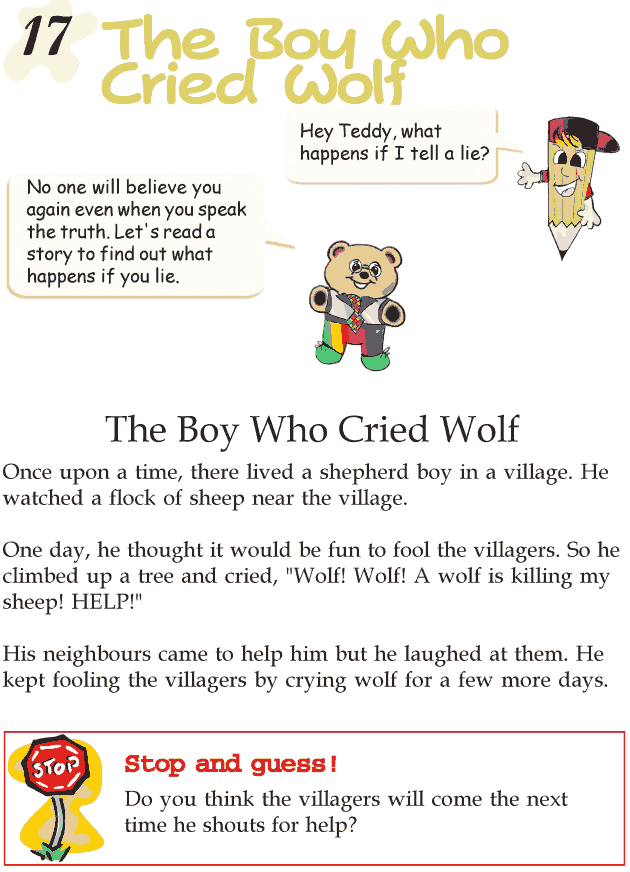 Grade 2 Reading Lesson 17 Fables And Folktales - The Boy Who Cried Wolf