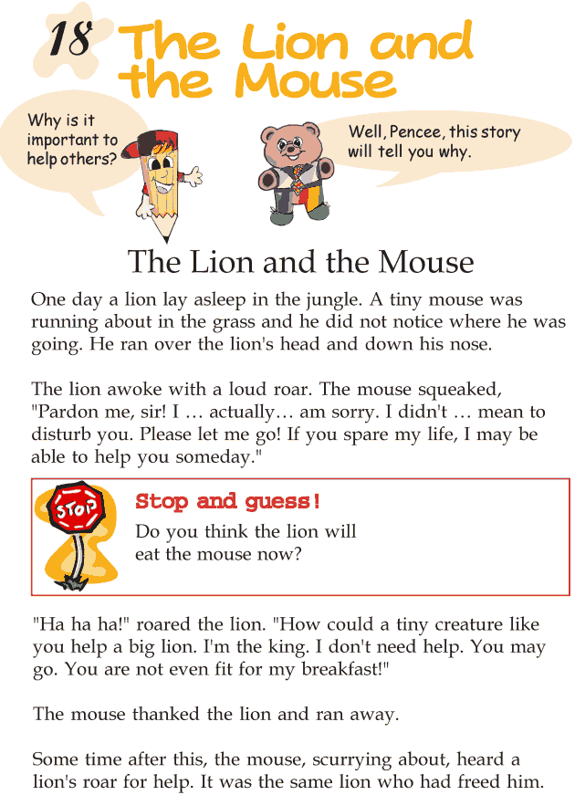 Grade 2 Reading Lesson 18 Fables And Folktales - The Lion And The Mouse