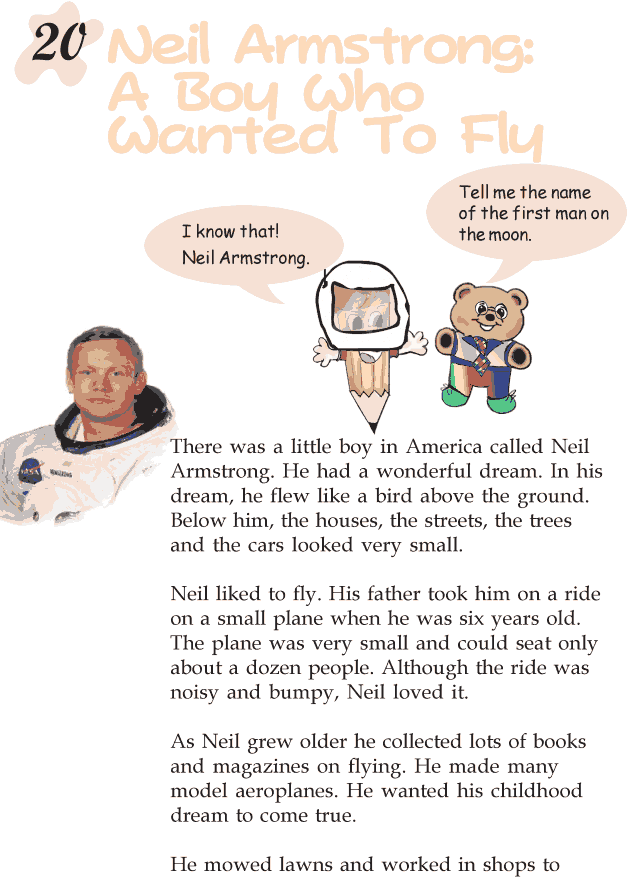 Grade 2 Reading Lesson 20 Biography - Neil Armstrong: A Boy Who Wanted To Fly