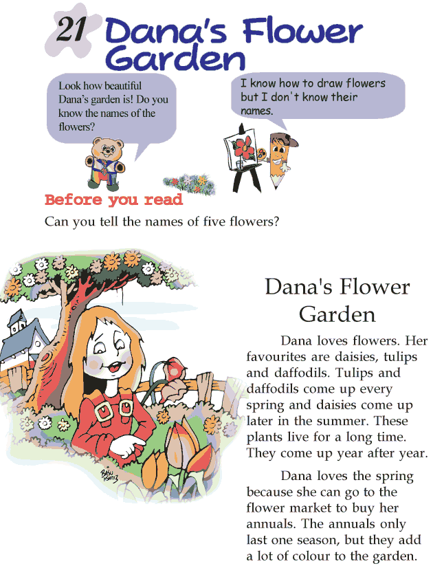 Grade 2 Reading Lesson 21 Short Stories - Danas Flower Garden