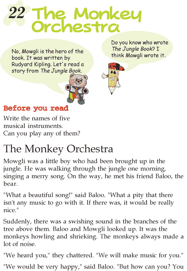 Grade 2 Reading Lesson 22 Short Stories u2013 The Monkey Orchestra : Reading Literature