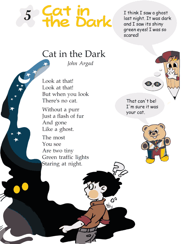 Grade 2 Reading Lesson 5 Poetry - Cat In The Dark
