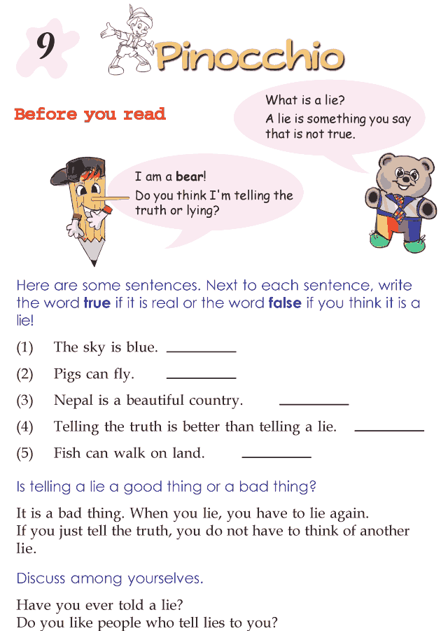 Grade 2 Reading Lesson 9 Fairy Tales - Pinocchio
