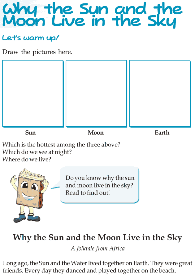 Grade 3 Reading Lesson 10 Fables And Folktales - Why The Sun And The Moon Live In The Sky