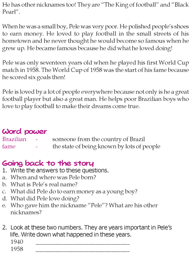 Grade 3 Reading Lesson 13 Biographies - The Greatest Footballer Of All Times (1)