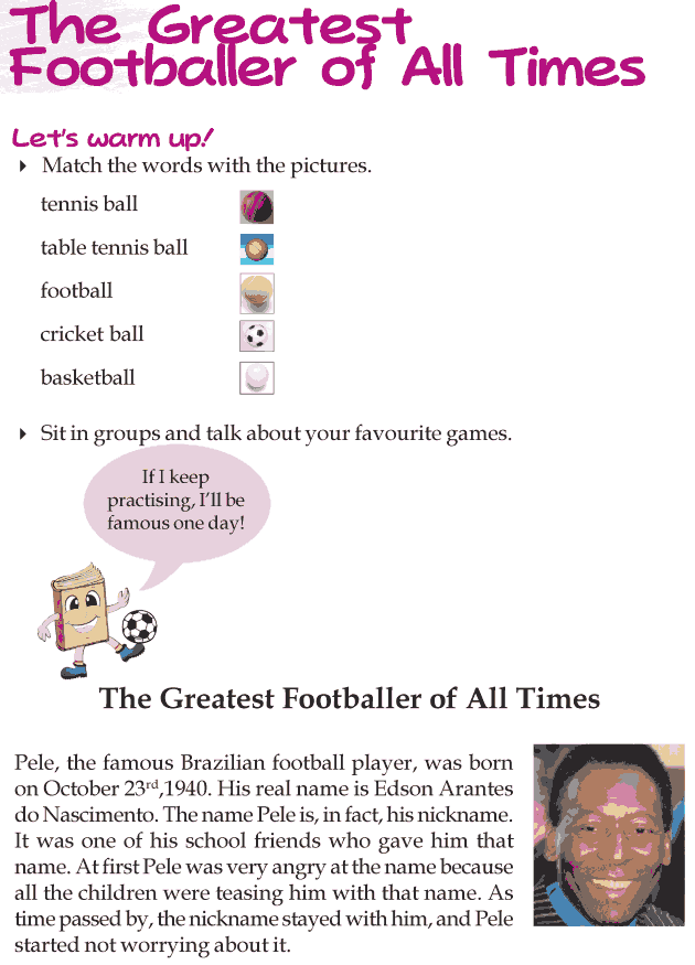 Grade 3 Reading Lesson 13 Biographies - The Greatest Footballer Of All Times