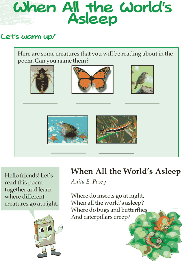 Grade 3 Reading Lesson 15 Poetry - When All The Worlds Asleep