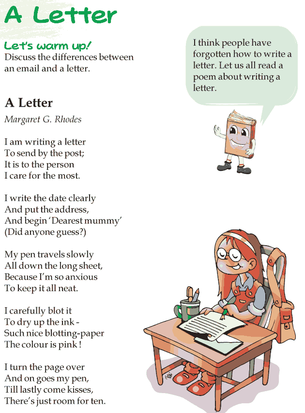 Grade 3 Reading Lesson 18 Poetry - A Letter