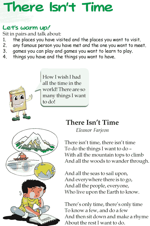 Grade 3 Reading Lesson 19 Poetry - There Isn't Time