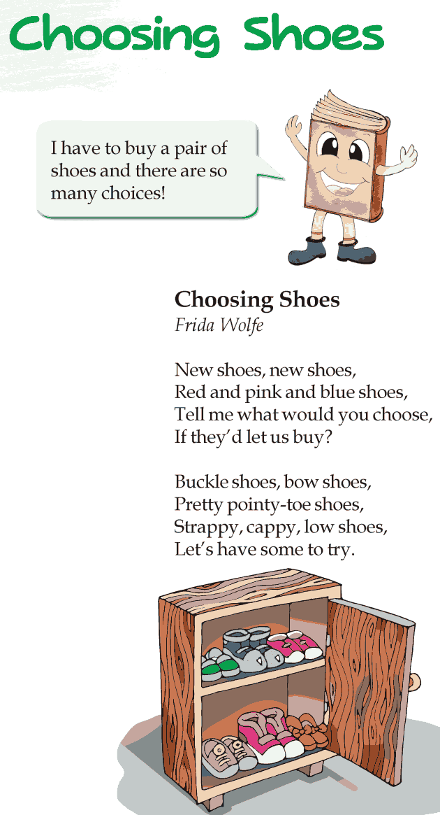 Grade 3 Reading Lesson 20 Poetry - Choosing Shoes
