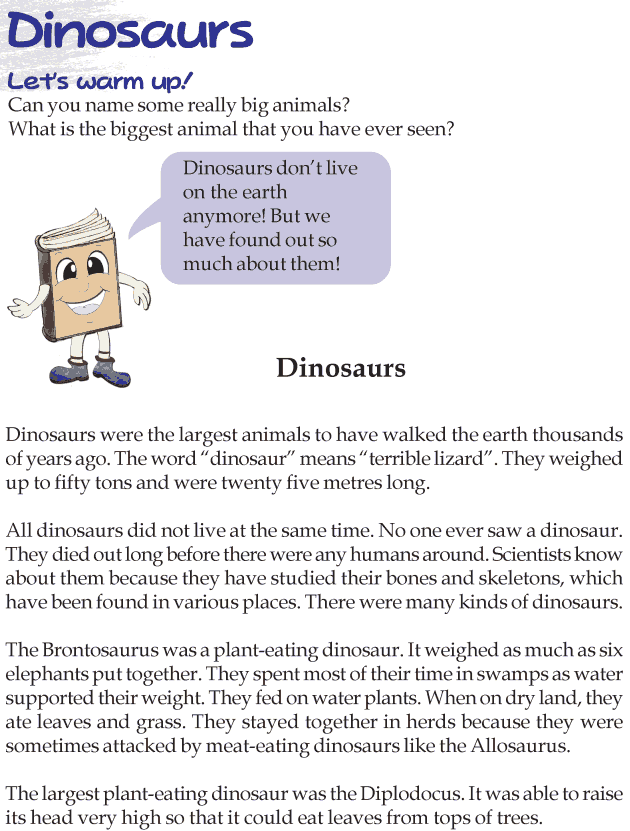 Grade 3 Reading Lesson 22 Nonfiction - Dinosaurs