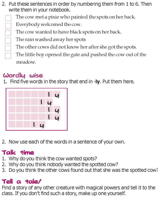 Grade 3 Reading Lesson 3 Short Stories - The Spotted Cow (5)