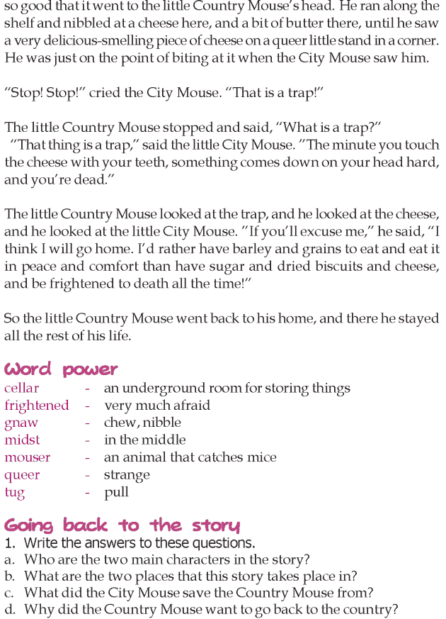 Grade 3 Reading Lesson 4 Short Stories - The City Mouse And The Country Mouse (3)