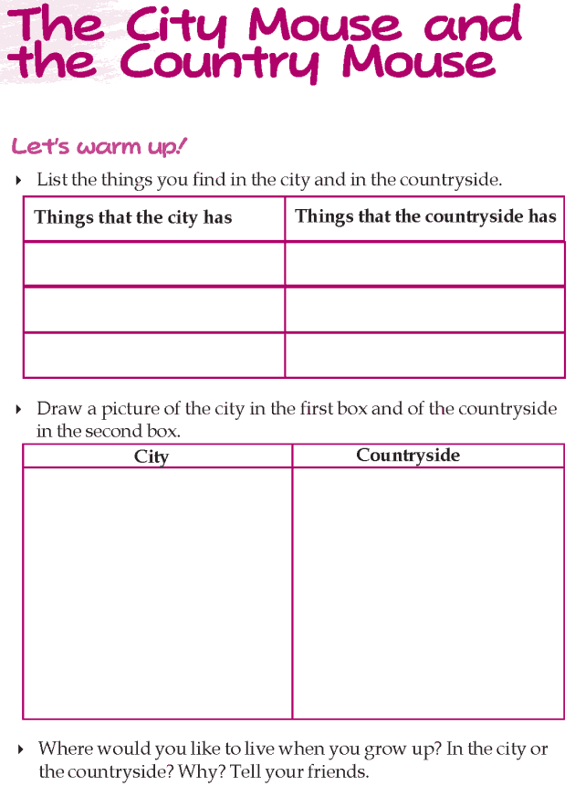 Grade 3 Reading Lesson 4 Short Stories - The City Mouse And The Country Mouse