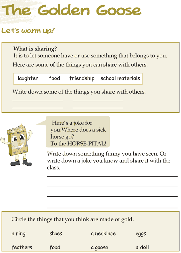 Grade 3 Reading Lesson 6 Fairy Tales - The Golden Goose