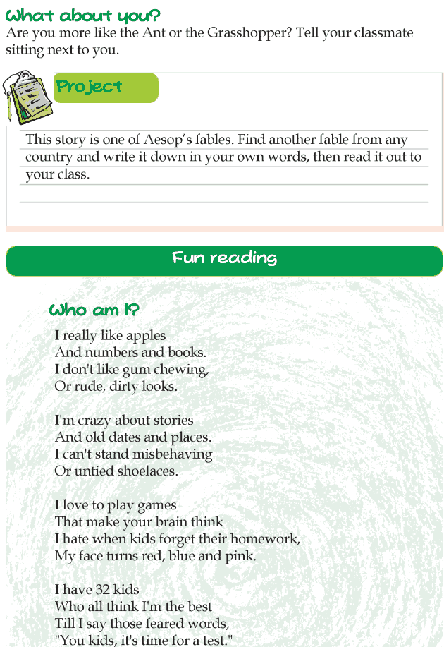 Grade 4 Reading Lesson 1 Fables And Folktales - The Ant And The Grasshopper (3)