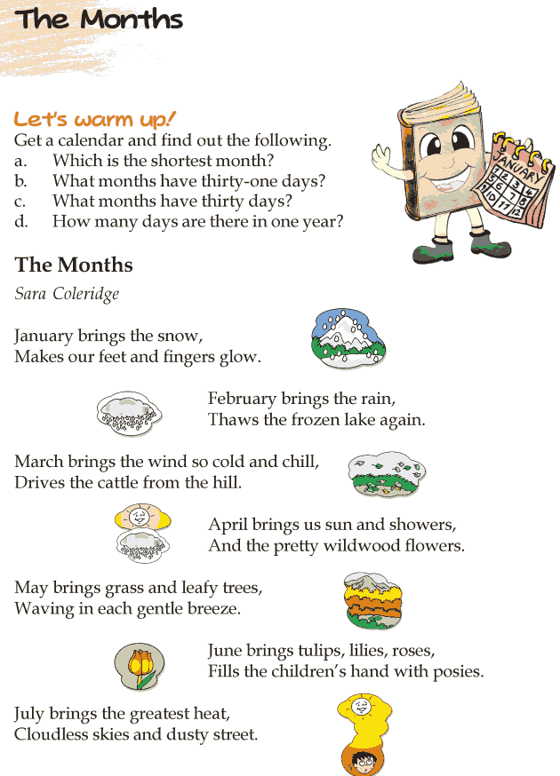 Grade 4 Reading Lesson 12 Poetry  - The Months
