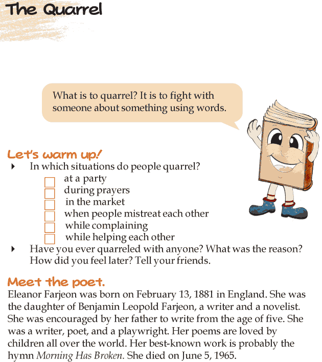 Grade 4 Reading Lesson 13 Poetry - The Quarrel
