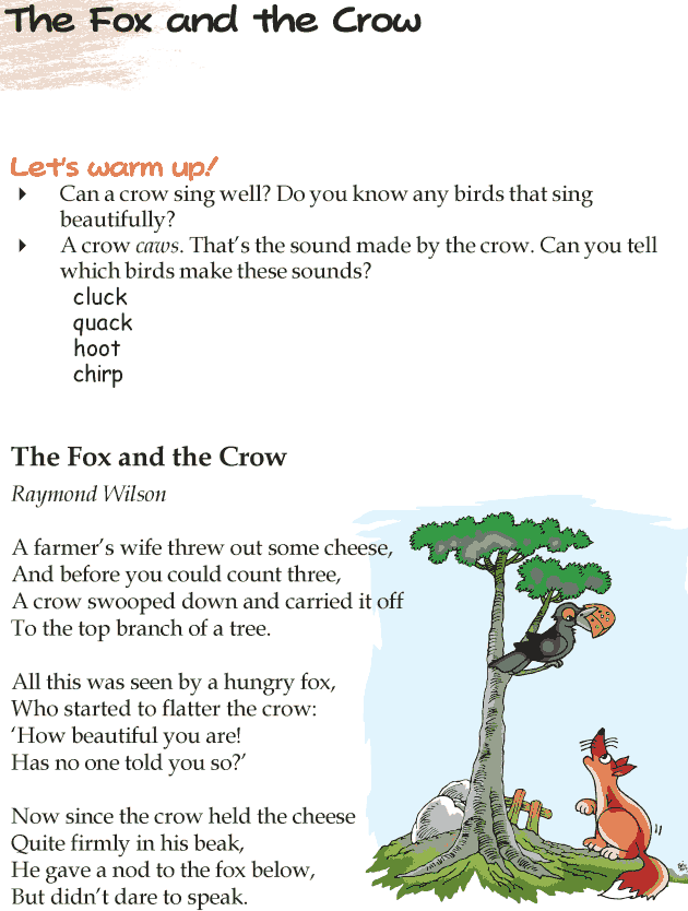 Grade 4 Reading Lesson 14 Poetry - The Fox And The Crow