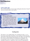 Grade 4 Reading Lesson 16 Nonfiction - Earthquakes