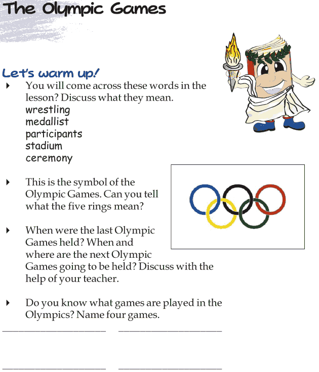 Grade 4 Reading Lesson 18 Nonfiction - The Olympic Games