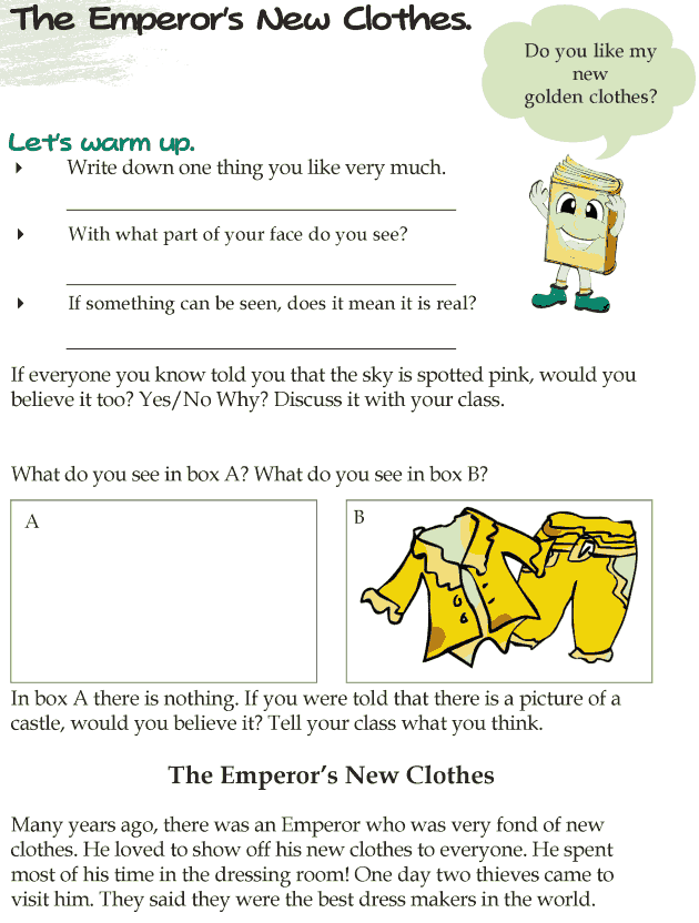 Grade 4 Reading Lesson 20 Fairy Tales - The Emperors New Clothes
