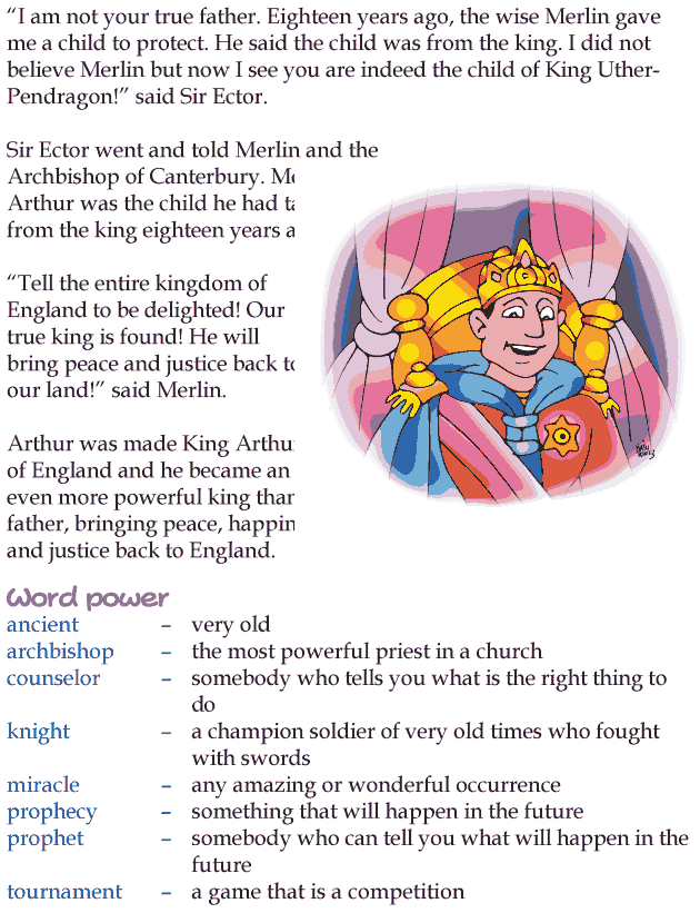 Grade 4 Reading Lesson 21 Myths And Legends - How Arthur Became King (4)
