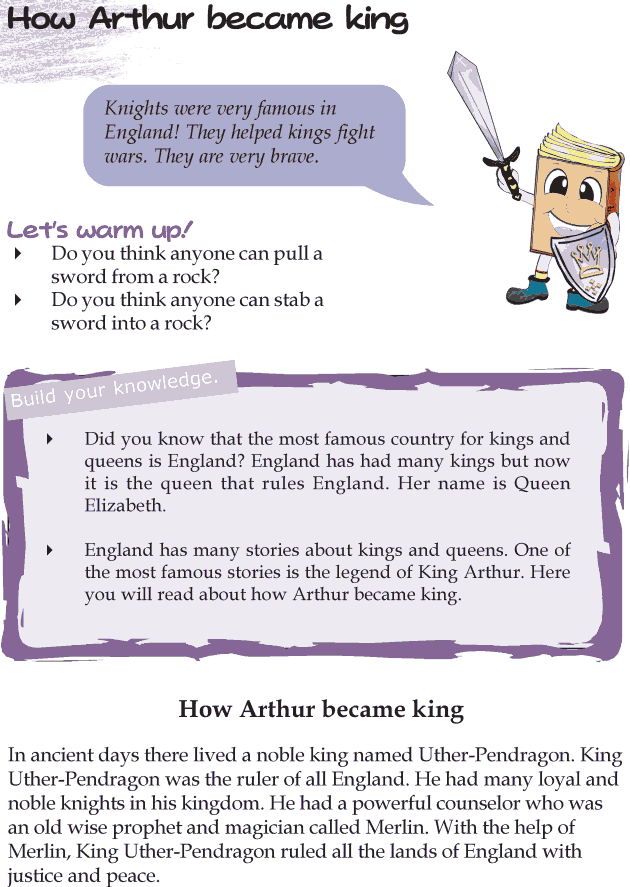 Grade 4 Reading Lesson 21 Myths And Legends - How Arthur Became King