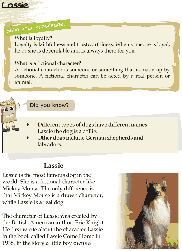 Grade 4 Reading Lesson 24 Biographies - Lassie