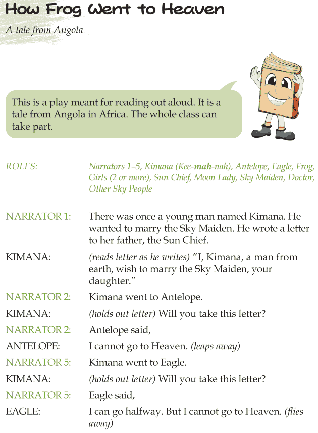 Grade 4 Reading Lesson 26 Drama - How Frog Went To Heaven
