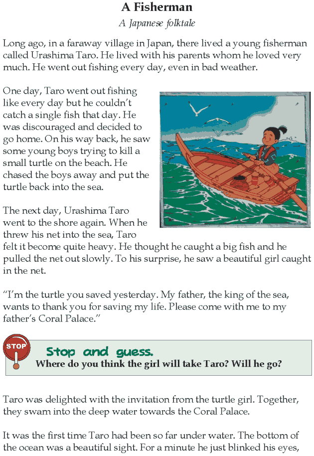 grade 4 reading lesson 3 fables and folktales a fisherman reading. Black Bedroom Furniture Sets. Home Design Ideas