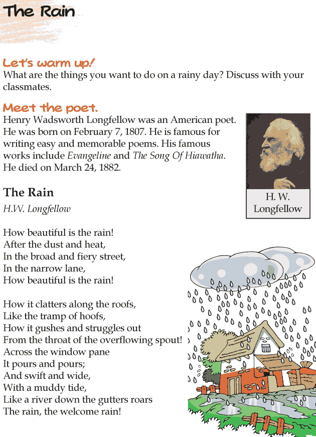 Grade 4 Reading Lesson 9 Poetry - The Rain