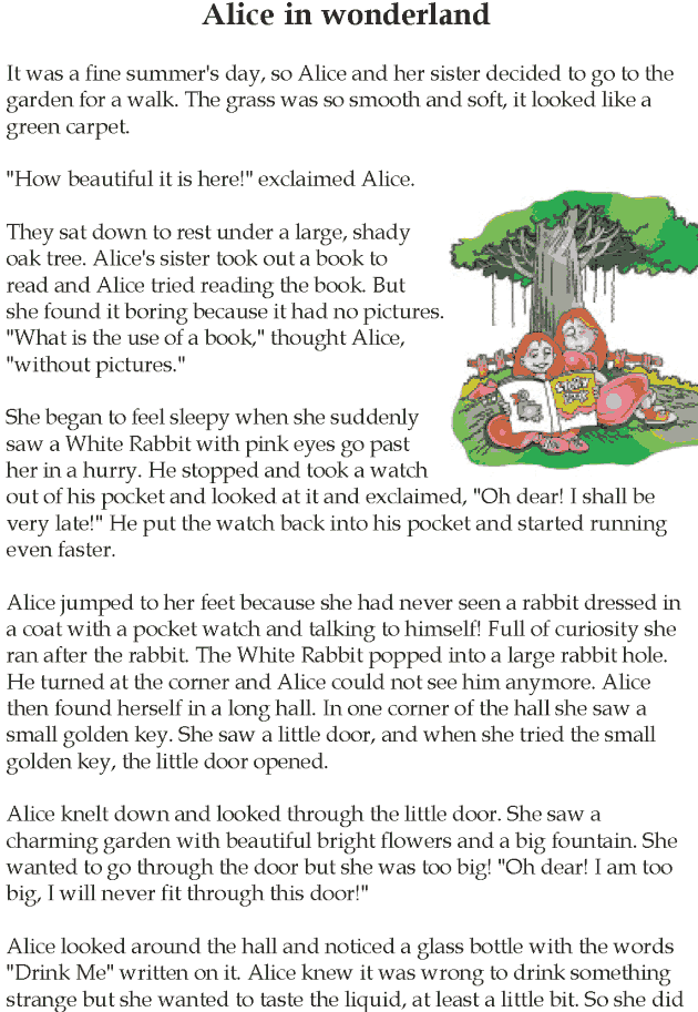 Grade 5 Reading Lesson 13 Fantasy - Alice In Wonderland (1)